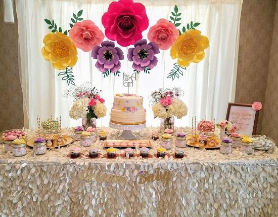 Simply Sweet Garden Baby Shower Dessert Table