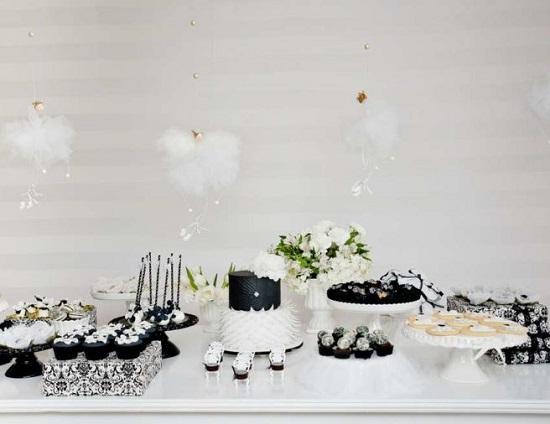 Swan Lake Baby Shower Dessert Table