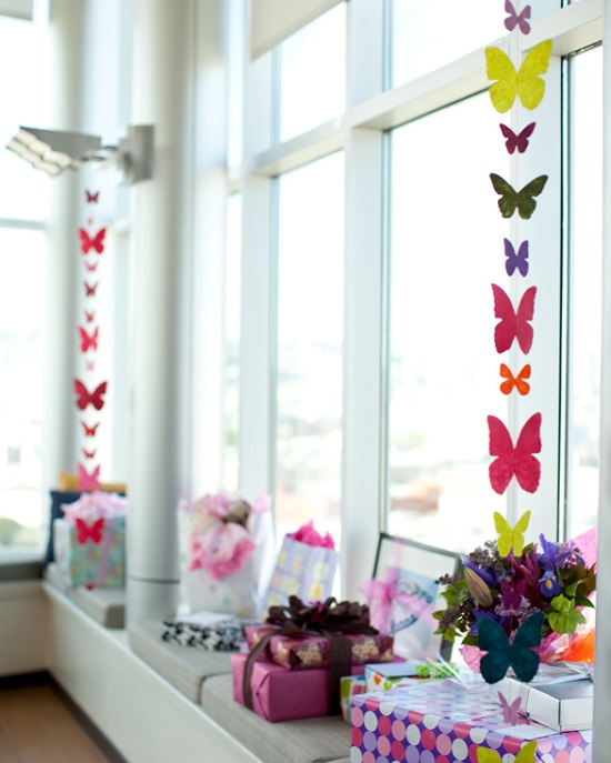 cutout butterfly decorations