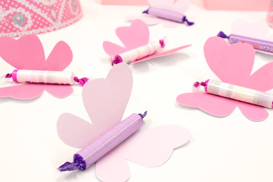 simple butterfly party favors on budget