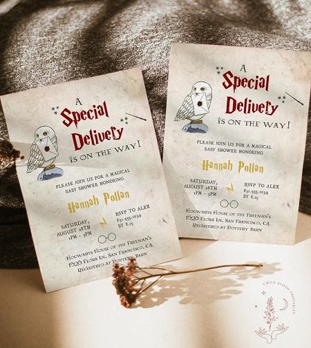 Wizard harry potter Baby Shower Invitation