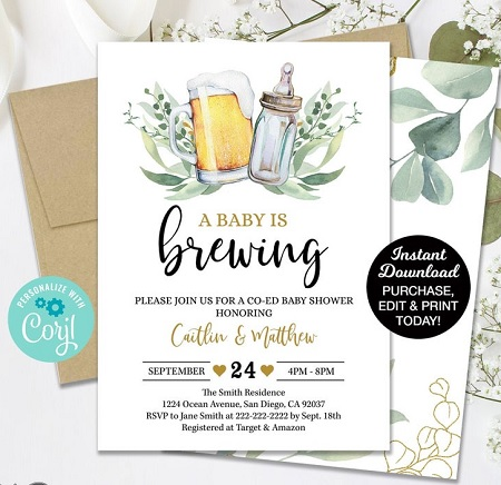 baby-is-brewing-coed-baby-shower-invitation