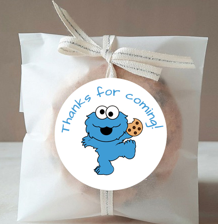 free cookie monster thank you tags