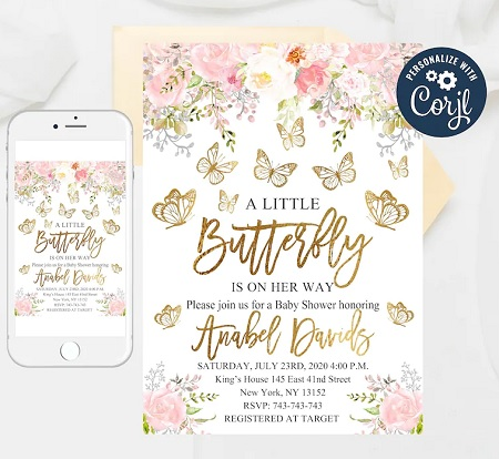 editable-pink-and-gold-butterfly-baby-shower-invitation