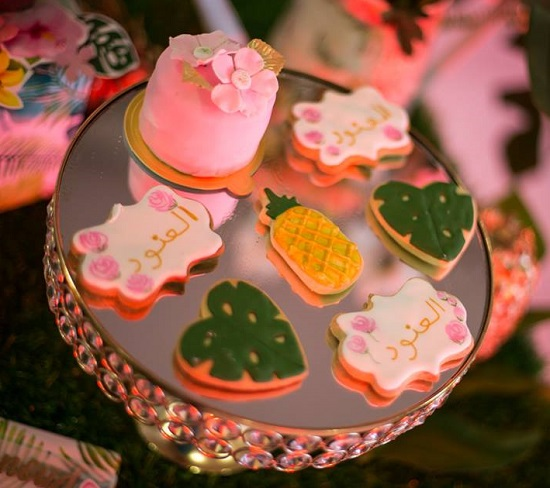cookies on fancy cupcake stand
